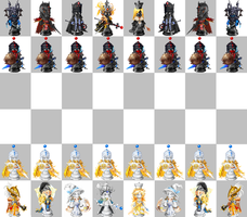 Gaian Chess Set by Galactic-Travailler