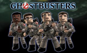 Ghostbusters Minimates Poster by jhroberts