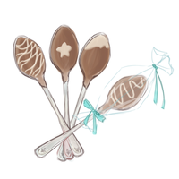 MAGE: Chocolate-Covered Spoons by DustBunnyThumper