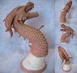 Dragon Sculpture - Antitheus by inoculated