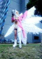 Angewomon cosplay by HaruhichanxD