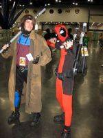 Gambit and Deadpool by Urvy1A