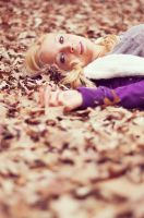laying in the leaves by BrianWolfe