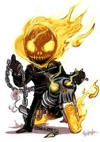 Little : Ghost rider by ChickenzPunk
