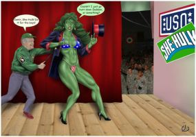 She-Hulk supporting the troops by yatz