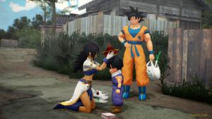 MMD - A small family outing. by CogetaCats