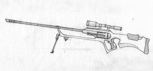 Sniper Rifle Revolver sketch by MTriton