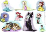 Disney doodles by lujus