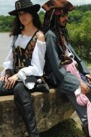 Jack Sparrow and Angelica Teach sz by BabiSparrow