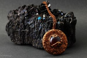 Amulet of Amber mineral background by Tuile-jewellery