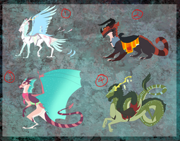 Dragon Mounts Auction (CLOSED) by The3Ss-Adopts