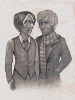 Crowley and Aziraphale by Finnguala