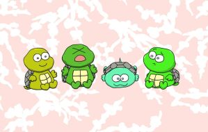 Lil' Turtles by amortortuga