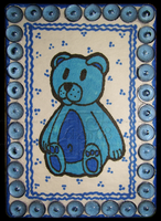 Blue Teddy ACEO 38 by Siobhan68