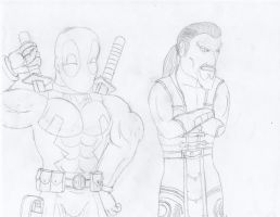 BrawlFan1's Sketches: Deadpool and Shang Tsung by w00twithBrawl