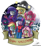 .:Mane 6 Halloween:. by The-Butcher-X