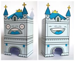 Tower Bridge Paper Toy by creaturekebab