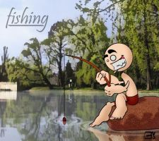 fishing color by Wangler