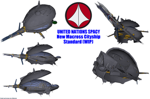 UN Spacy New Macross Cityship (WIP) by Chiletrek