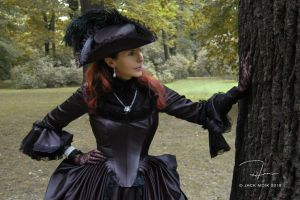 Black Rococo Gown by Jacklionheart