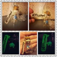 Navi in a Bottle with Speech Charm by LimitlessDreamer