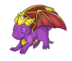 .:AT:. Spyro by CollectionOfWhiskers