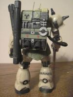 Custom weathered Zaku Sniper HG: 2 by clicker-3000