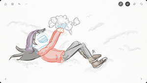 Schwabl Winter with Marcy by parttimedoodles