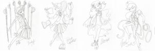 My Little Pony Friendship is Magical Girls: Sketch by The-Virgo-Fairy