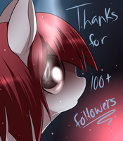 Rouges 100 followers on Tumblr by MylittleSheepy