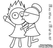 Mark and Miki colouring page 1 by suzzie456