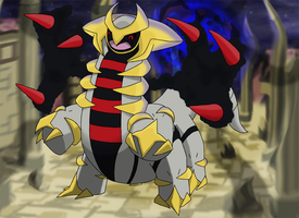 Favourite Ghost-type Pokemon: Giratina by Kumata