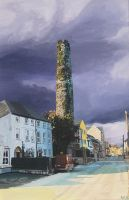 Cloyne Round Tower by eastcorkpainter