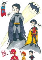 Young Justice Robin God Damit bats by Kittychan2005