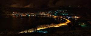 Sogndal by Night by netrex