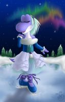 .Icy Dancing under Aurora Sky. by Sting-Chameleon