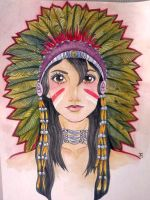 Native American Girl Flash by Johanna-Hime
