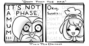 DON'T TOUCH THE HAIR by TinyTeaDrinker