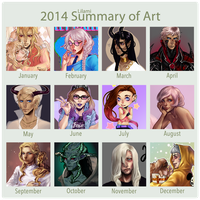 2014 Summary of Art by Lilami