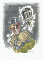 JUDGE DREDD AND DEATH commission by leagueof1