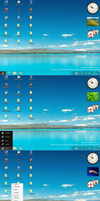 Windows8 startmenu for XP and Win7 by PeterRollar