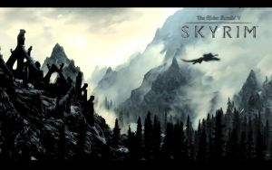 Skyrim Wallpaper - Valley View by Aenek-Lycaon