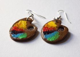 Paint Palette Earrings by DragonsDust