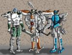 Beast Wars wolf characters by Wing-Saber
