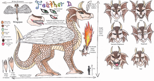 FEATHER DRAGON REFERENCE SHEET by Feather-Dragon