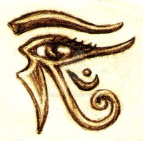 eye of horus right by beckhanson