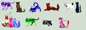 Cat Adoptables (CLOSED) by Kittyleaf-adopts