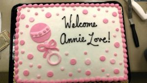 Pink Baby Shower Cake by ayarel