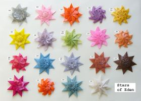 Stars of Eden, set 101-115 by Figuer