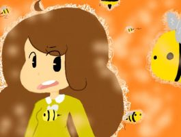 bee and bees by 1-upFlipnote